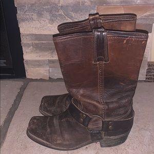 Frye Harness boots!